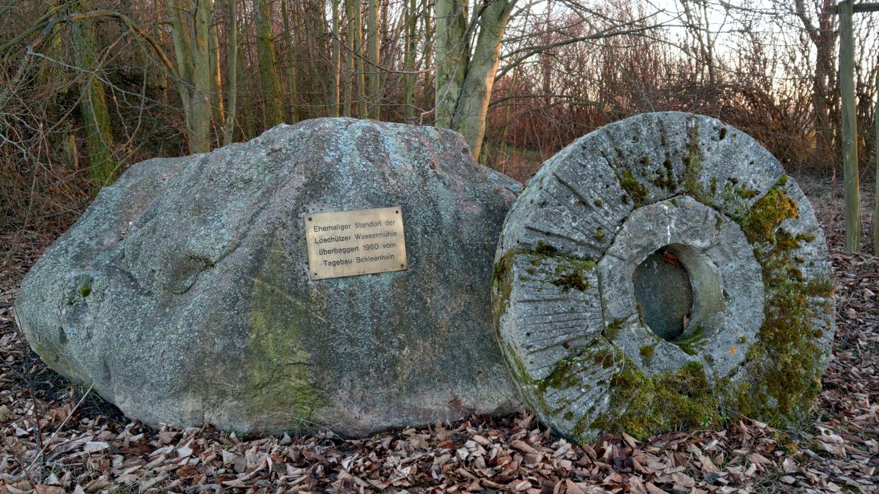 Gedenkstein Löschützmühle